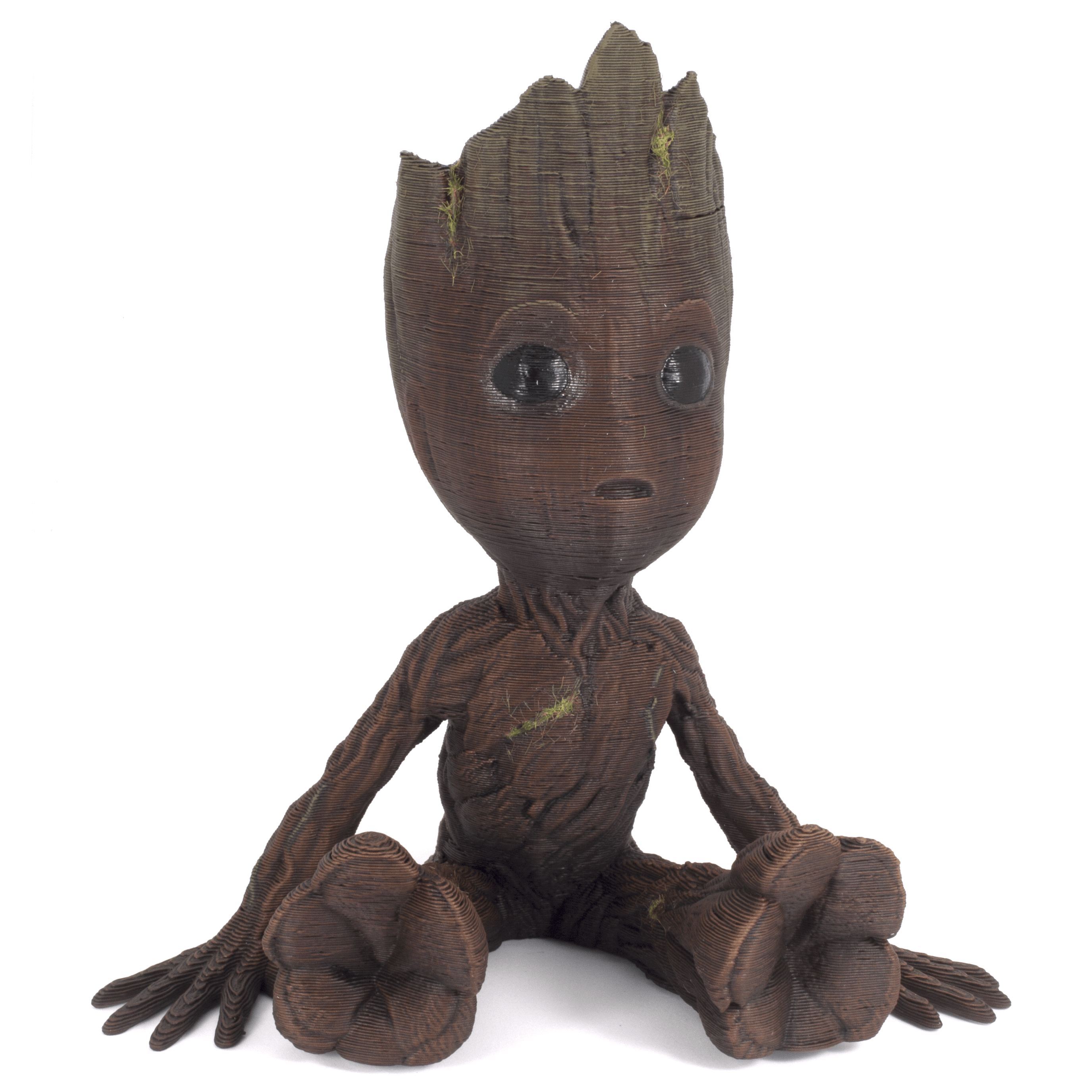 Painting a 3D Printed Groot step-by step