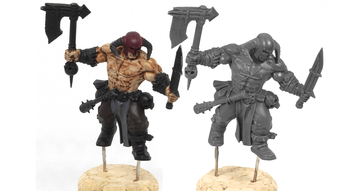 Strip Paint off Miniatures Cheap and Easy