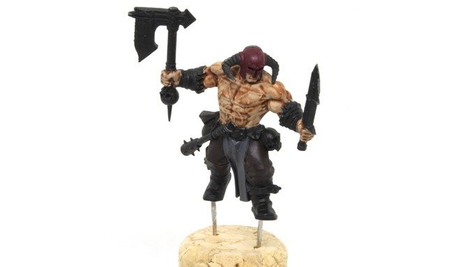 How to Strip Paint Off Miniatures - Khorne Bloodreaver