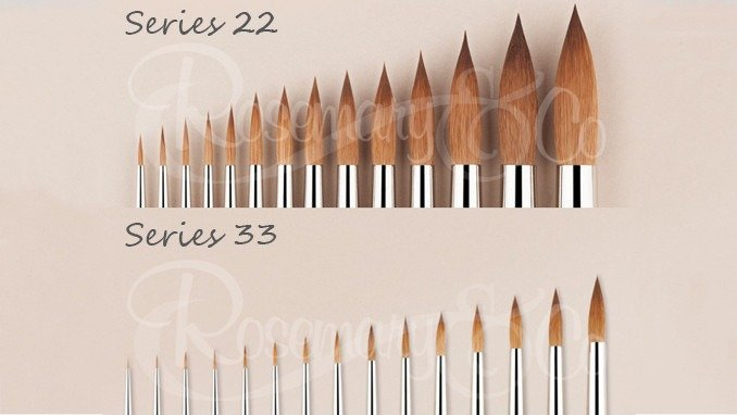 Best Brushes for Painting Miniatures 2019 - Rosemary & Co Series 22 Series 33