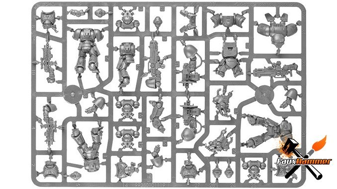 Warhammer Conquest Full Contents Issue 16 & 59 - Dark Imperium Sprue B