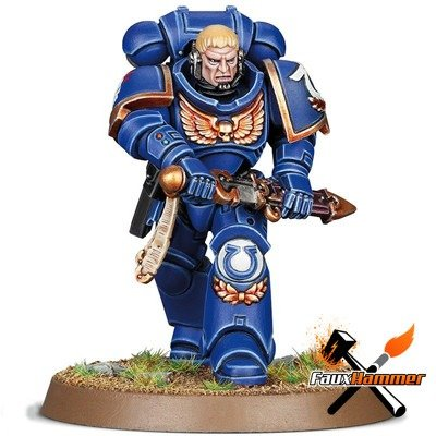 Warhammer Conquest Full Contents Issue 5 - Ultramarines Primaris Lieutenant Calsius