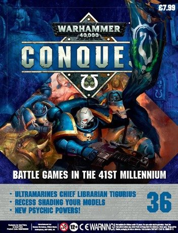 Warhammer Conquest Issue 36 Cover Contents