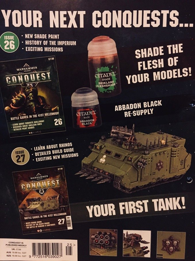 Warhammer Conquest Issues 26 & 27 Contents