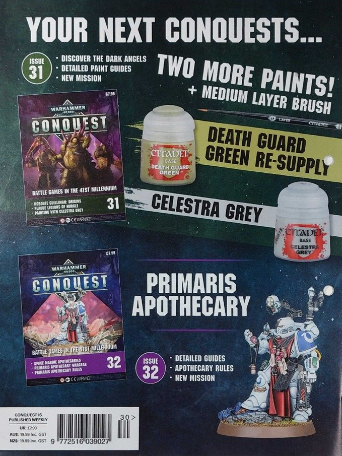 Warhammer Conquest Issues 31 & 32 Contents