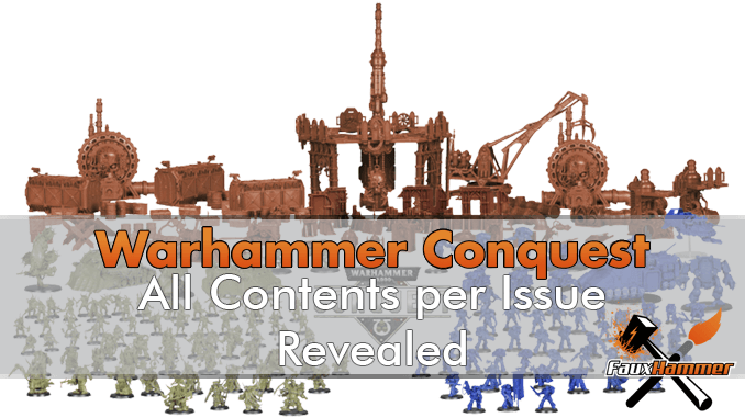 Leaked - Full Warhammer Conquest Magazine Contents Per Issue (Issues 1 - 80)